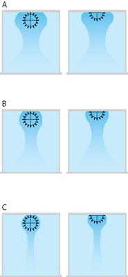 Течение воздушного  потока в круглых тканевых воздуховодах