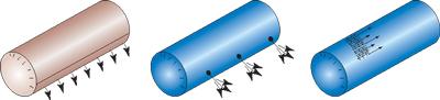 распределение воздуха  через тканевые воздуховоды