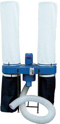 Пылеулавливающая система с двумя рукавами
